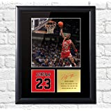 Michael Jordan Signé photo montage affichage Chicago Bulls