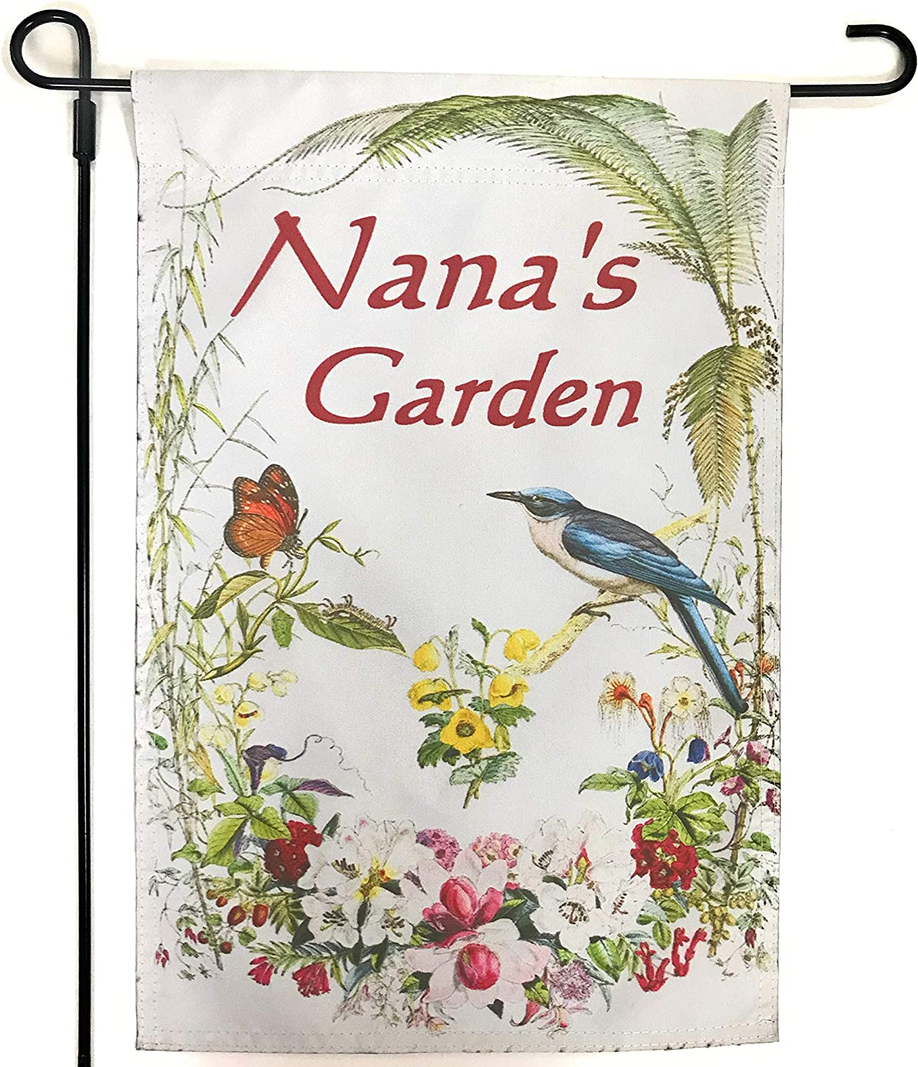 Garden Flag that Says NANA - Great Nana Gift from Granddaughter, Grandson or all the Grandkids. Let Nana Know; Your Are Loved with this Nana Garden Flag for All Occasion Nana Gift Giving- Flag ONLY