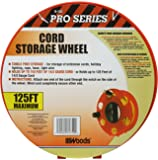 Woods E-102 Heavy Duty Cord Storage Wheel, 125-Foot