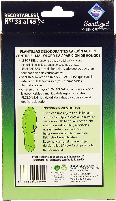 Plantillas banda azul act/carbon recort.: Amazon.es: Belleza