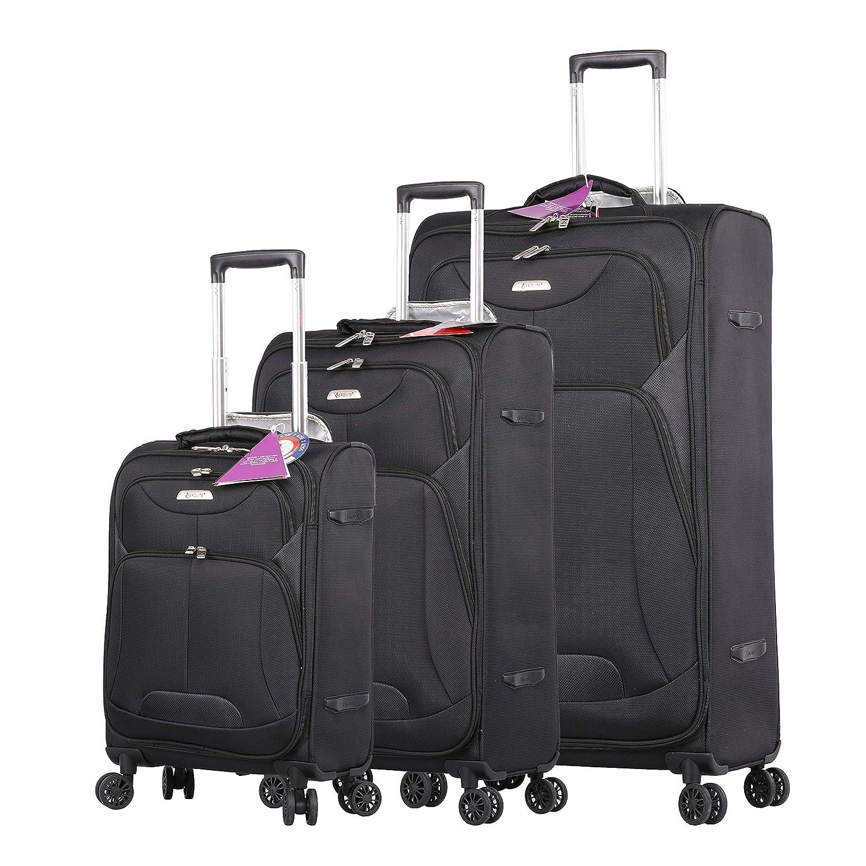 8736e2c298e6 Aerolite Ultra Lightweight 8 Wheel Suitcase, Cabin Luggage, Medium/Large  Hold Luggage & Luggage Sets