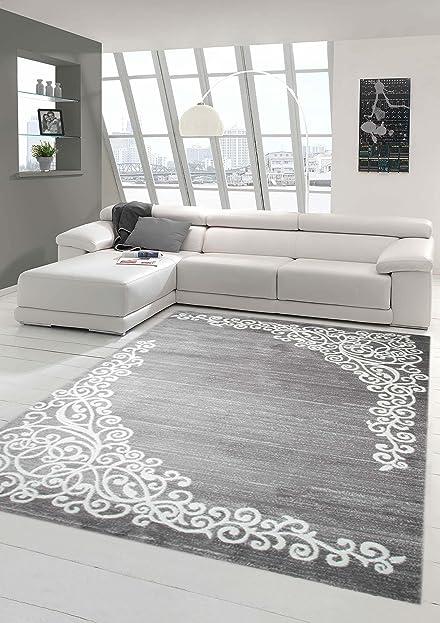 moderner teppich designer teppich orientteppich mit glitzergarn ... - Wohnzimmer Grau Creme