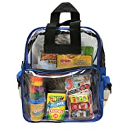 BusyBags - Activity Travel Bags for Kids - Hours of Quiet Activities - Durable See Through Backpack - Keep Your Kids Busy on Airplanes, roadtrips, Waiting at restuarants, etc. - Boys