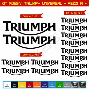 Pegatinas adhesivos TRIUMPH UNIVERSAL para motos, motocicletas. Cod.0637 (Nero cod.