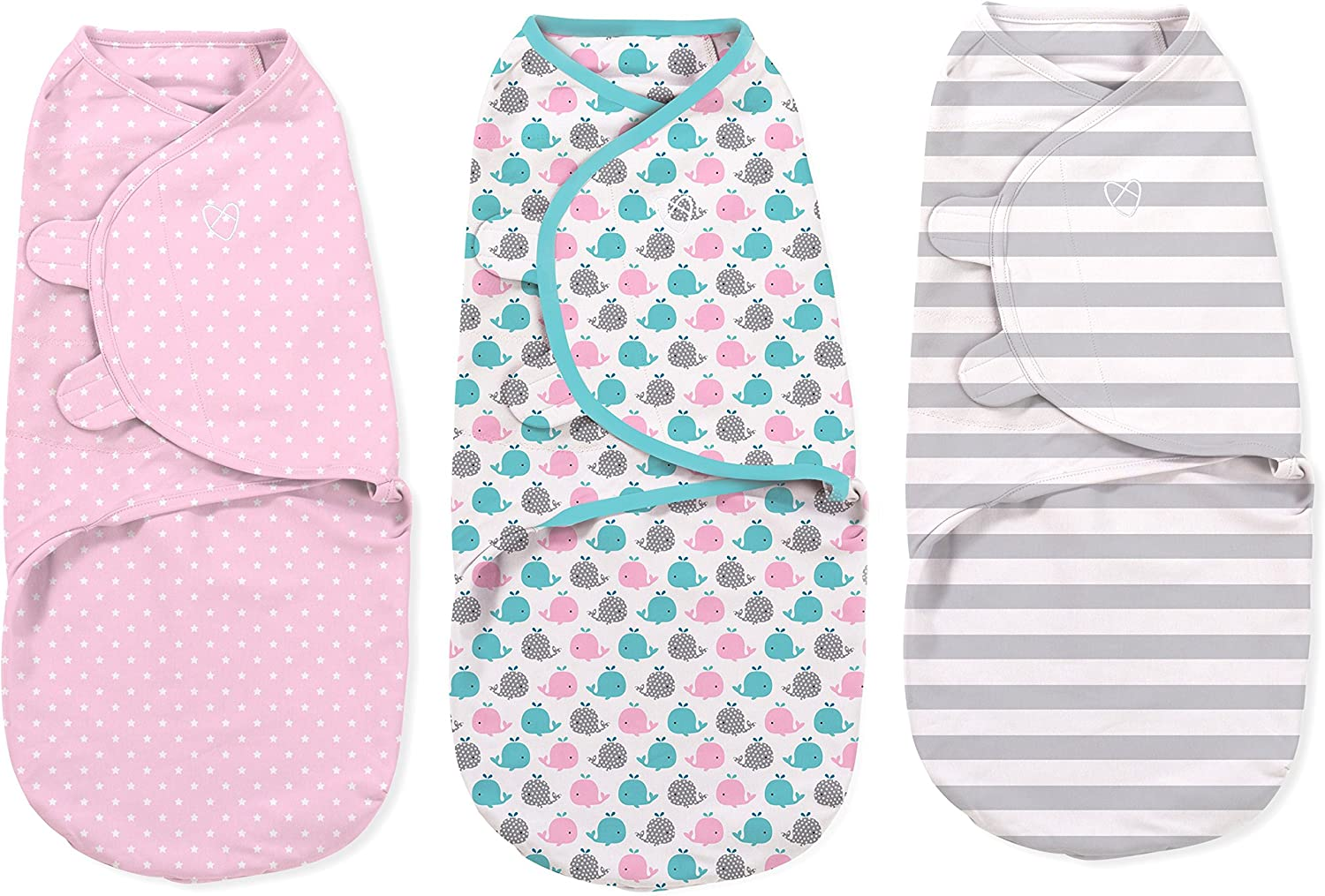 0-3 Months SwaddleMe Original Swaddle 3-PK Coral Days Small
