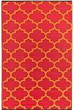 Fab Hab Intérieur / Tapis extérieur Tanger - Orange Peel & Rouge Rouge (120cm x 180cm)