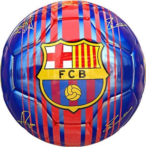 Balon FC Barcelona Primera Equipacion 17 18 AZUL: Amazon.es ...