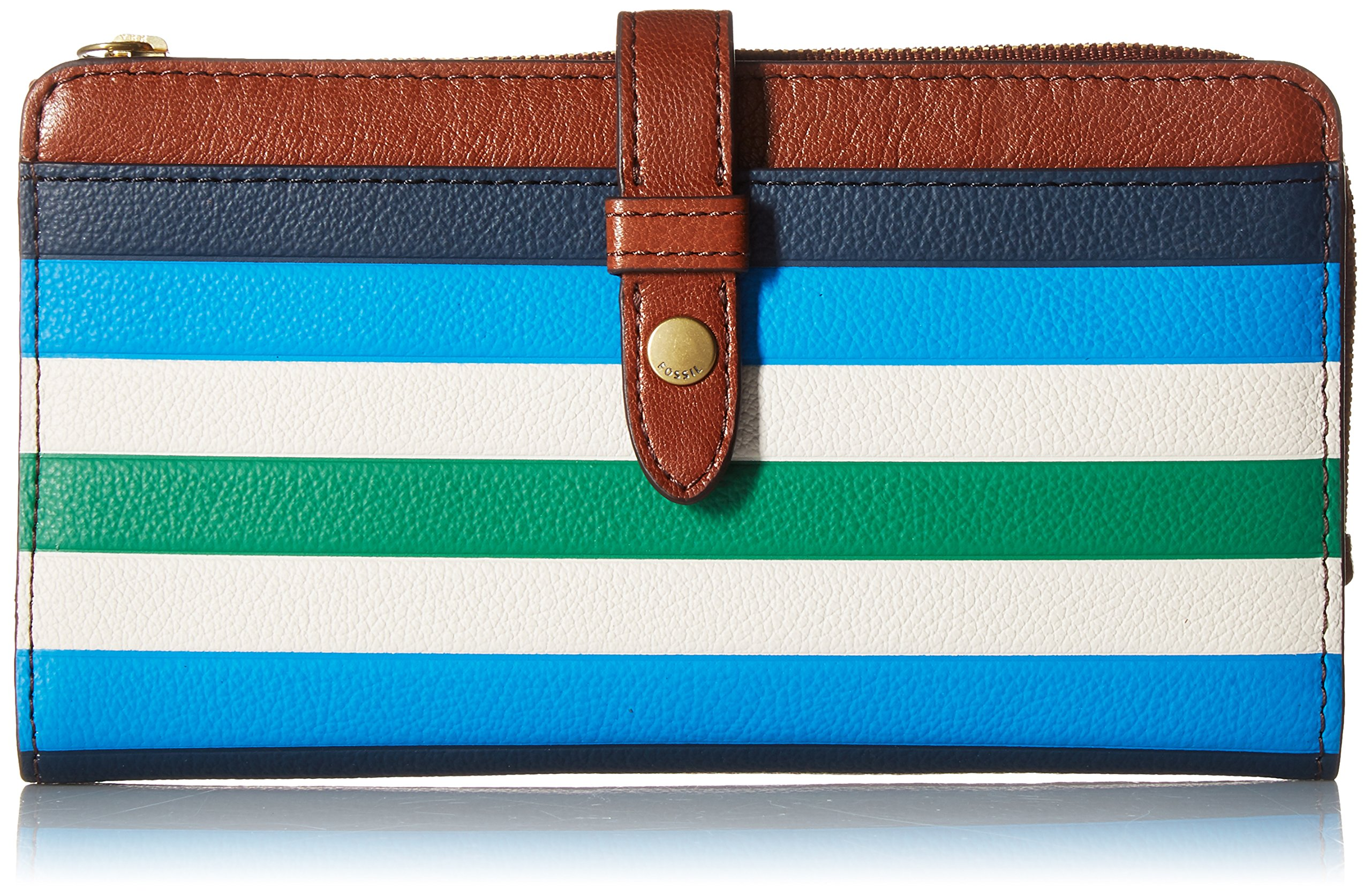 f0b6801d360a89 Fossil Fiona TAB Wallet, Blue Stripe | Pieces of a Dream Gifts