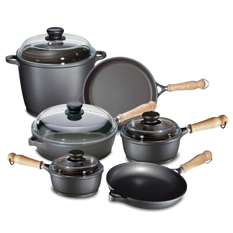 Berndes 674103 Tradici-n 10 Pc aluminio fundido antiadherente utensilios de cocina: Amazon.es: Hogar