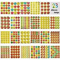 JBSON Stickers kids, Smiley, Stickers Kids, 23 Verschillende Designs Waaronder Smiley, Leraar Stickers, 5200 Stickers…
