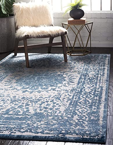 Unique Loom Aberdeen Collection Textured Traditional Vintage Tone Area Rug_CTF001