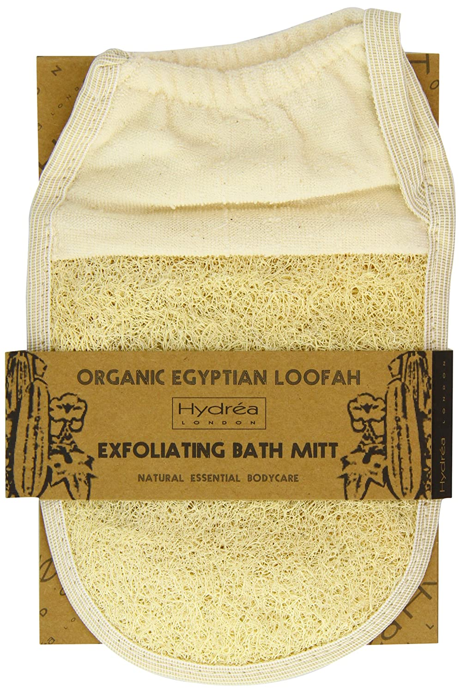 Hydrea London - Organic Egyptian Loofah, Guanto esfoliante in spugna di luffa LMT4