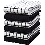 """Premium Kitchen Towels (16""""x 28"""", 6 Pack) – Large Cotton Kitchen Hand Towels – Chef Weave Design – 380 GSM Highly Absorbent T"""