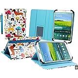 Emartbuy Lexibook LexiTab 7 Pouce Tablette PC Multicolore Chiots Angle Multi Folio Exécutif Etui Coque Portefeuille Wallet Avec des Fentes de Cartes + Stylet
