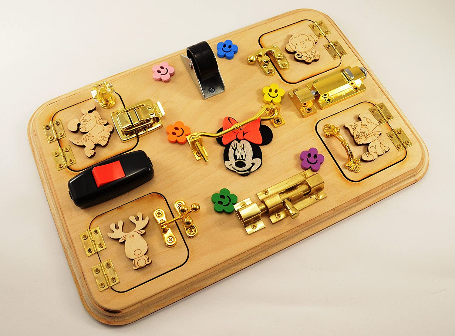 Travel busy board Mickey mouse toys Busy board for toddler Baby toys Christmas in july Gift 1st Sensory board Busy board Montessori toys