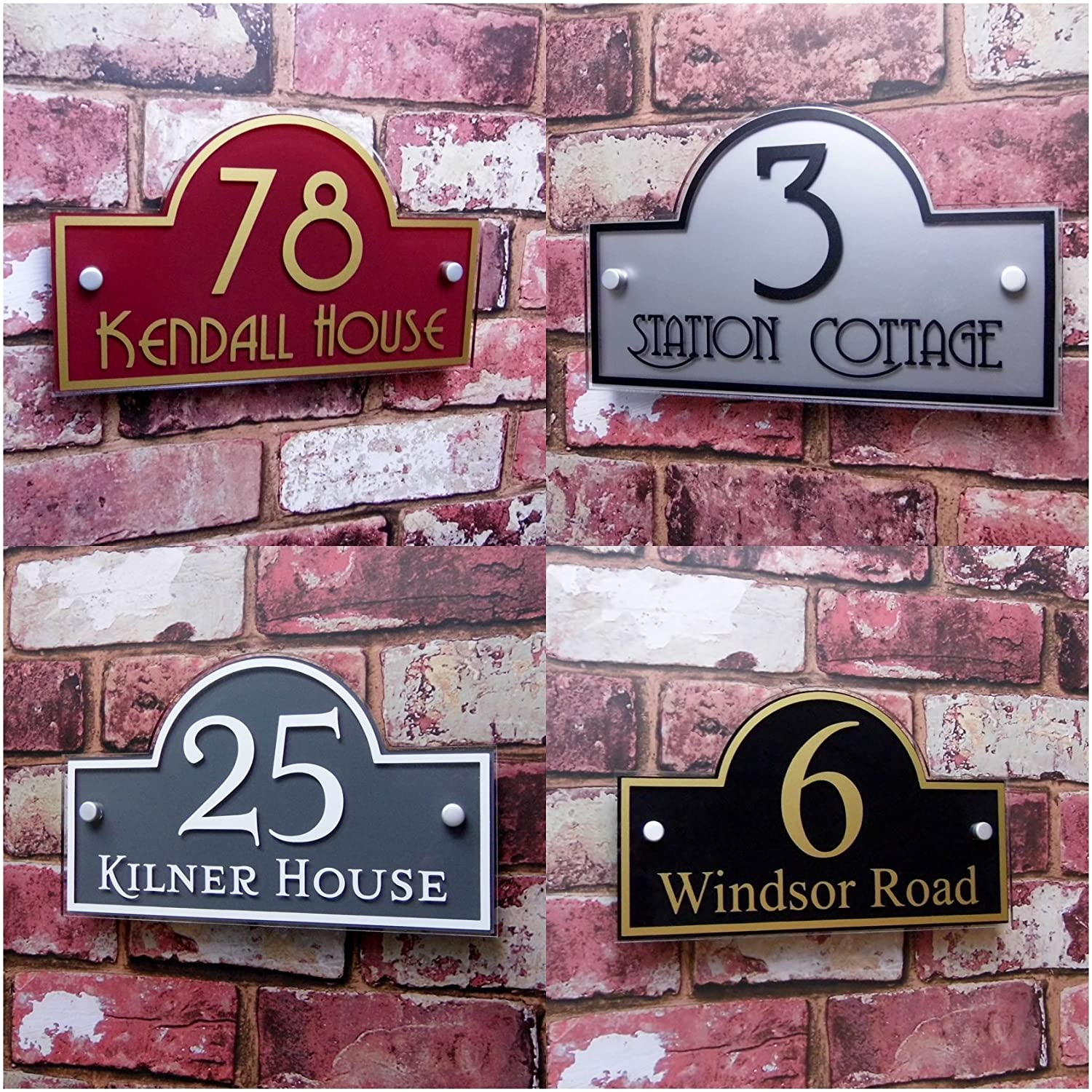 Premium Quality Personalised House Sign Door Number Street Address Plaque Modern 'Bridge' MADE TO ORDER Decorative House Sign Solutions