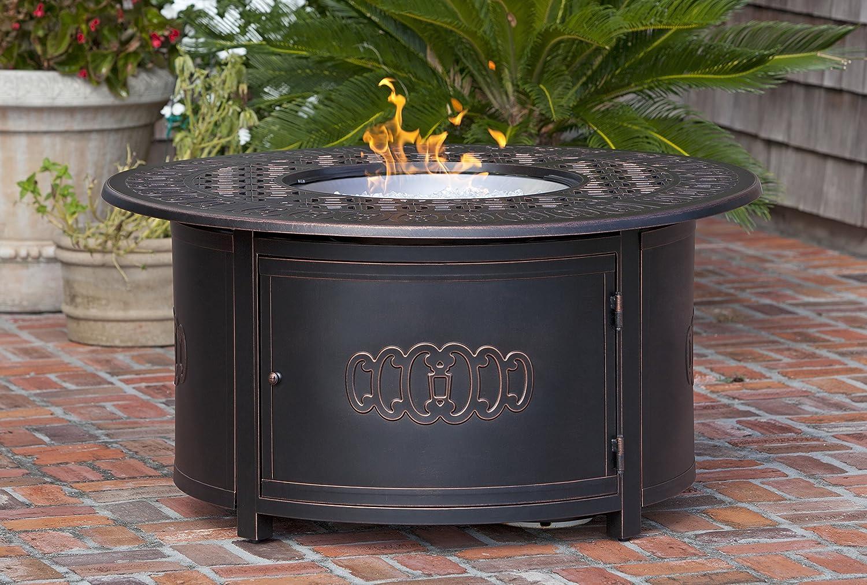 Fire Sense Dynasty Round Cast Aluminum LPG Fire Pit