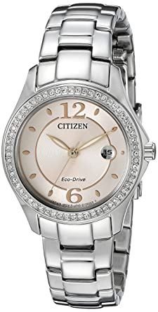 54eb01f9ba4ff9 Citizen Women's Eco-Drive Silhouette Crystal Watch with Date, FE1140-86X