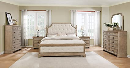 Merveilleux Roundhill Furniture B296KDMN2C Piraeus 296 Solid Wood Construction Bedroom  Set With King Size Bed, Dresser