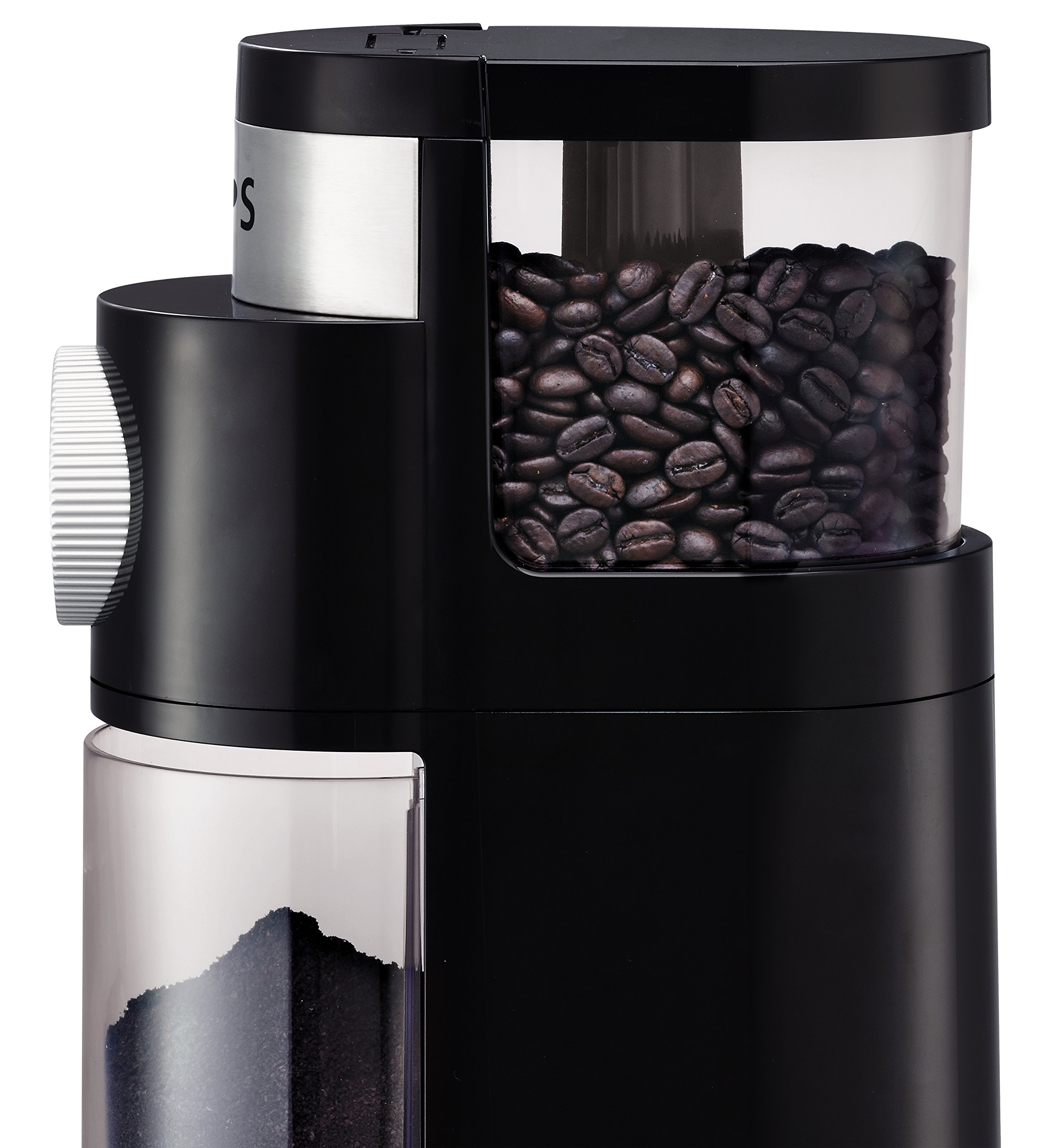 KRUPS GX5000 Professional Electric Coffee Burr Grinder with Grind Size and Cup Selection, 7-Ounce, Black by KRUPS (Image #2)