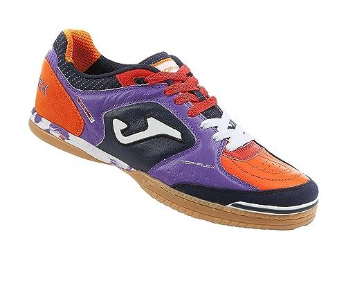 Joma Top Flex, Zapatilla de fútbol Sala, Morado-Negro-Naranja: Amazon.es: Zapatos y complementos