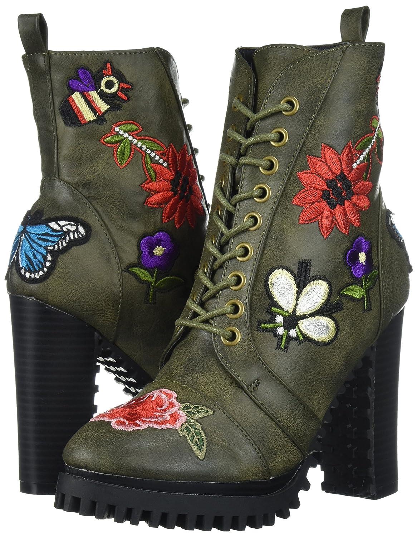 Penny Loves Kenny Women's Frank Combat Boot B071KT67FV 13 W US|Green