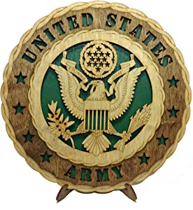 Christmas Holiday Armed Forces Army Decorative Laser Three Dimensional Wooden Wall Plaque