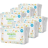 6-Pack Babyganics Face, Hand & Baby Wipes, Fragrance Free (100 Count Each)