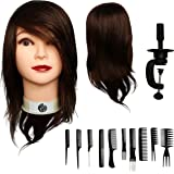 "100% Human Hair Mannequin Head 12"" by Aestus Fashions 