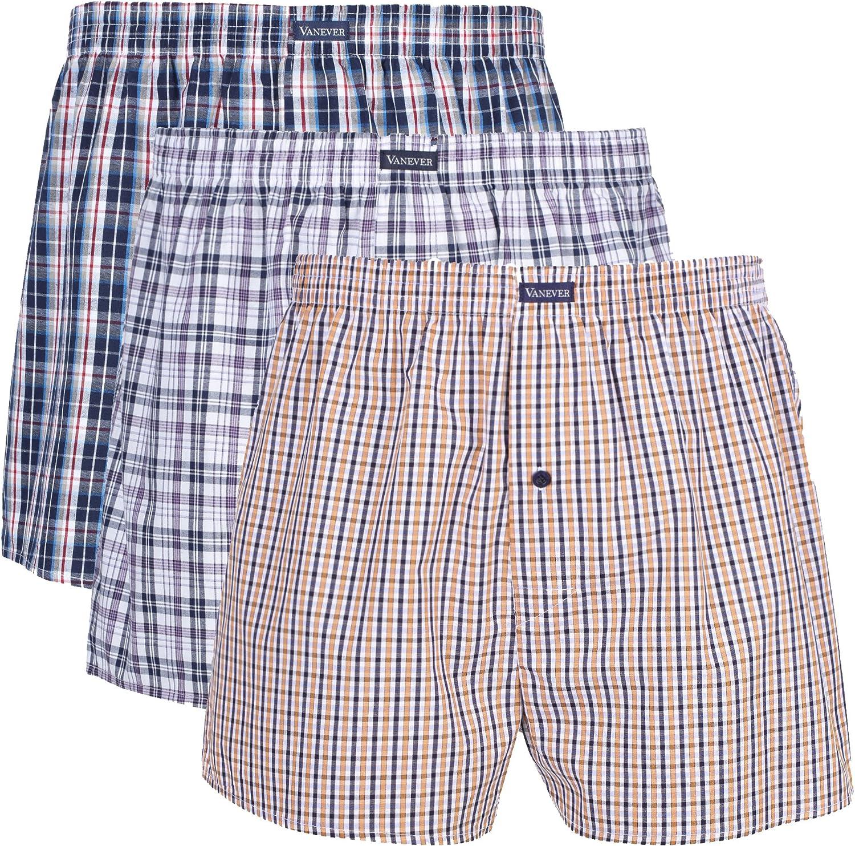 Vanever Bóxers Ajustados para Hombre Algodón 100% Elástico Pack de 3 Naranja Combinación L: Amazon.es: Ropa y accesorios