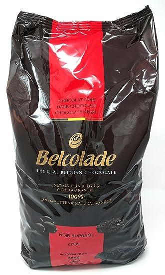 Belcolade 70% pepitas de Chocolate Negro 5kg