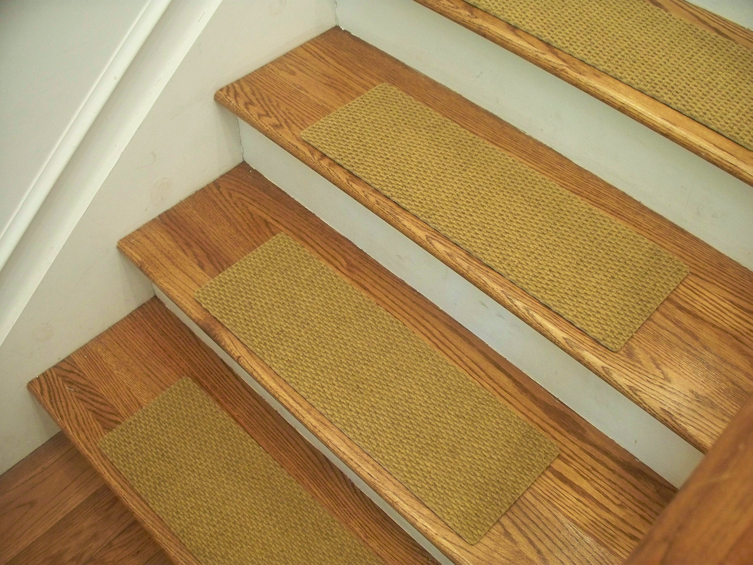 Essential Carpet Stair Treads - Style: Berber - Color: Natural - Size: 24'' x 8'' - Set of 15