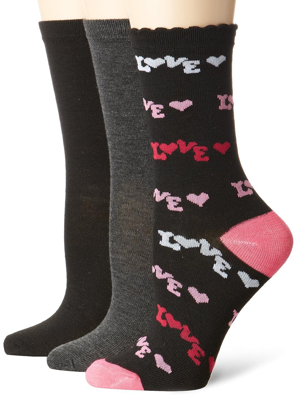Betsey Johnson Women's Crew Socks (3-Pack)