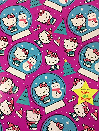fb497a021 Image Unavailable. Image not available for. Color: Hello Kitty Christmas  Gift Wrapping Paper ...