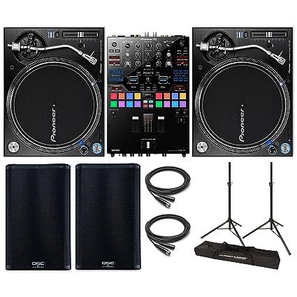 Amazon.com: Pioneer plx-1000 & djm-s9 topset DJ con qsc ...