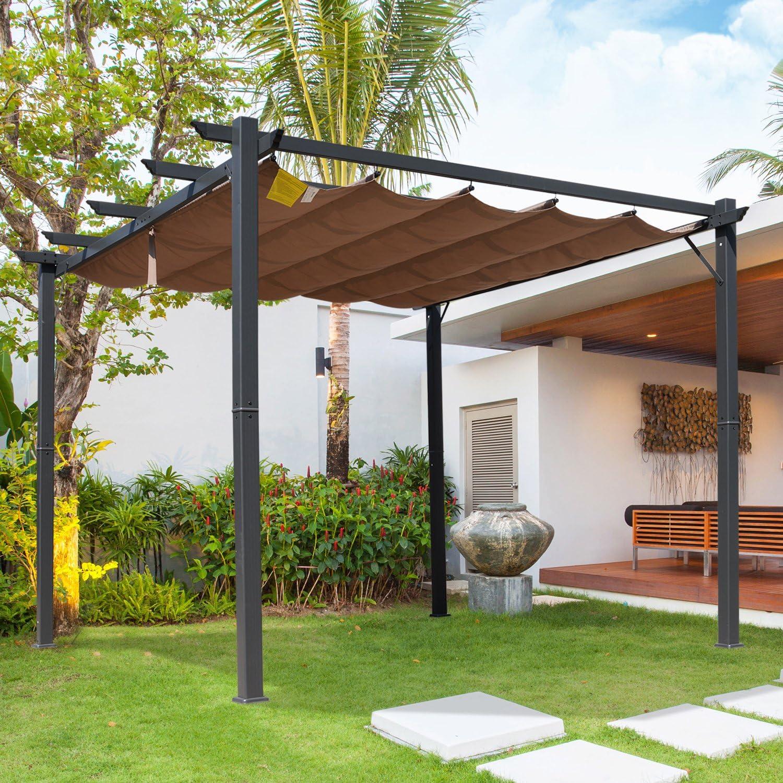 Outsunny - Toldo de Aluminio para pérgola (300 x 300 cm): Amazon ...