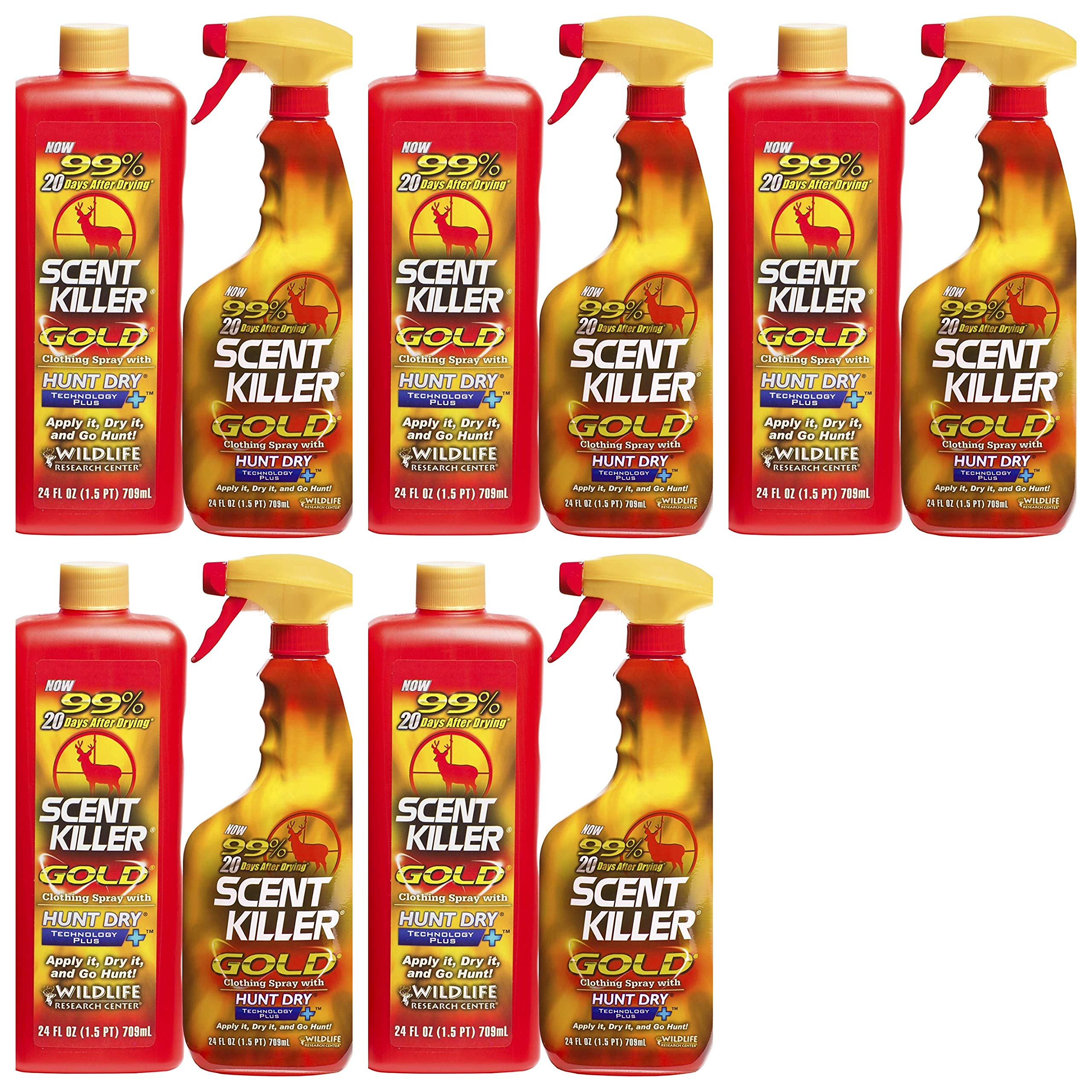 Scent Killer 1259 Wildlife Research Gold 24/24 Combo, 48 oz. (Fіvе Расk) by Scent Killer