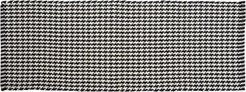 Chesapeake Portland Houndstooth Black Accent Rug Runner 22 x60