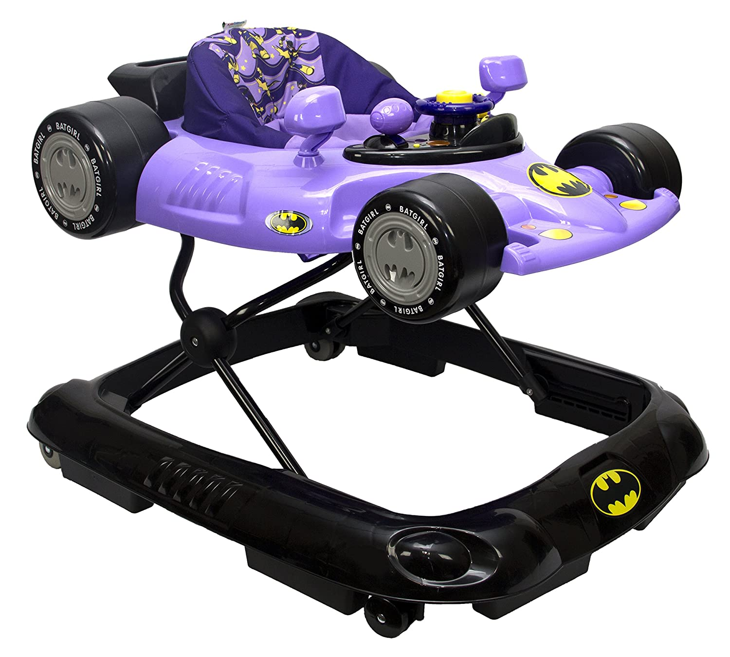 KidsEmbrace Batgirl Baby Activity Walker, DC Comics Car, Music and Lights, Purple 5501BTG