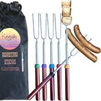 Kooalo Roasting Sticks - Premium Extendable Marshmallow Smores Roasting Sticks for Fire Pit