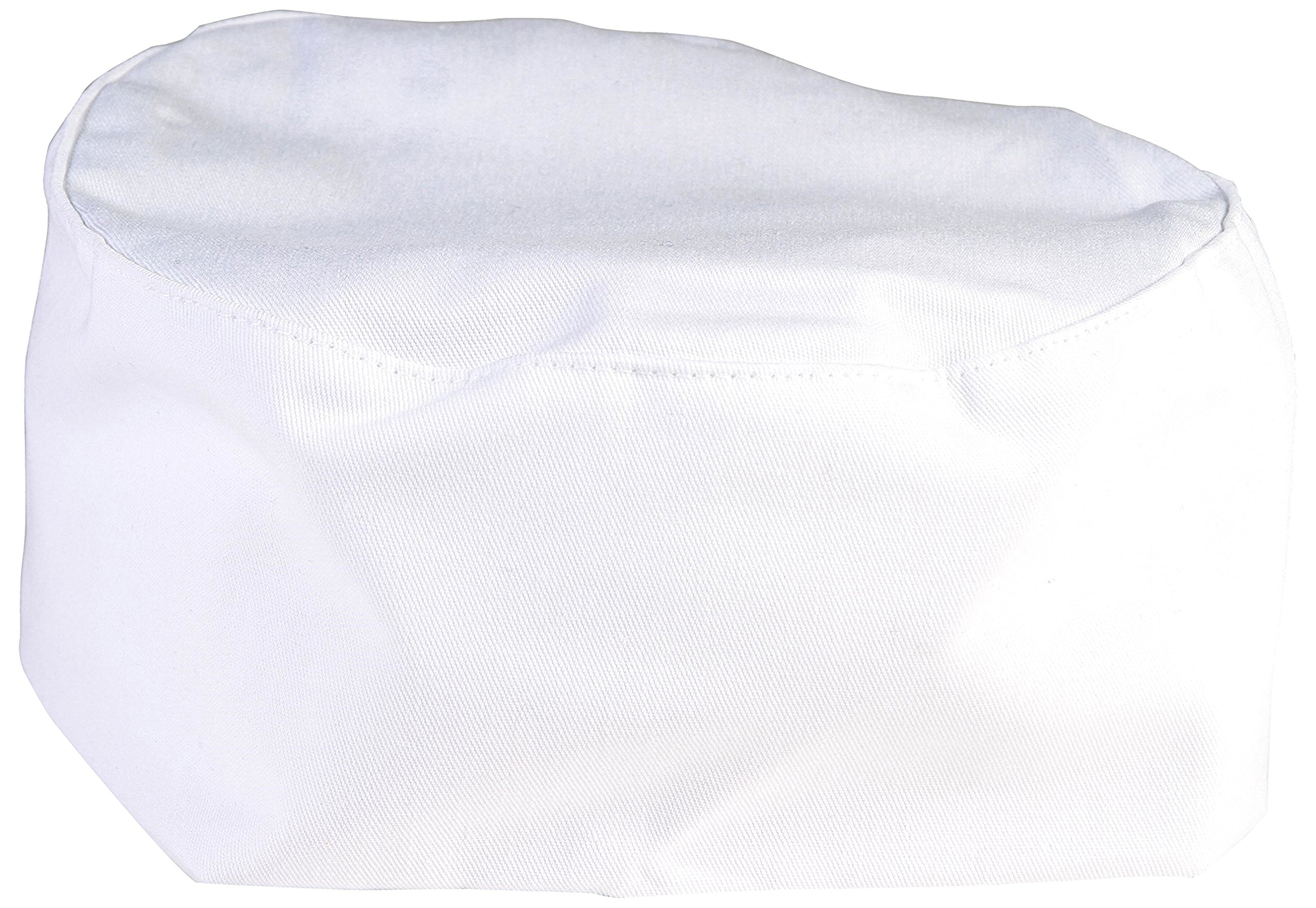 Mercer Culinary M60075WH1X Baker's Skull Cap with No Mesh, X-Large, White