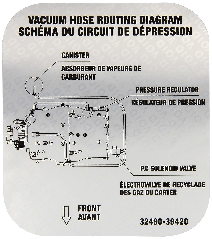 Genuine Kia 32490-39420 Emission Label