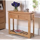 Crescent Solid Oak Hallway Furniture Console Hall Table