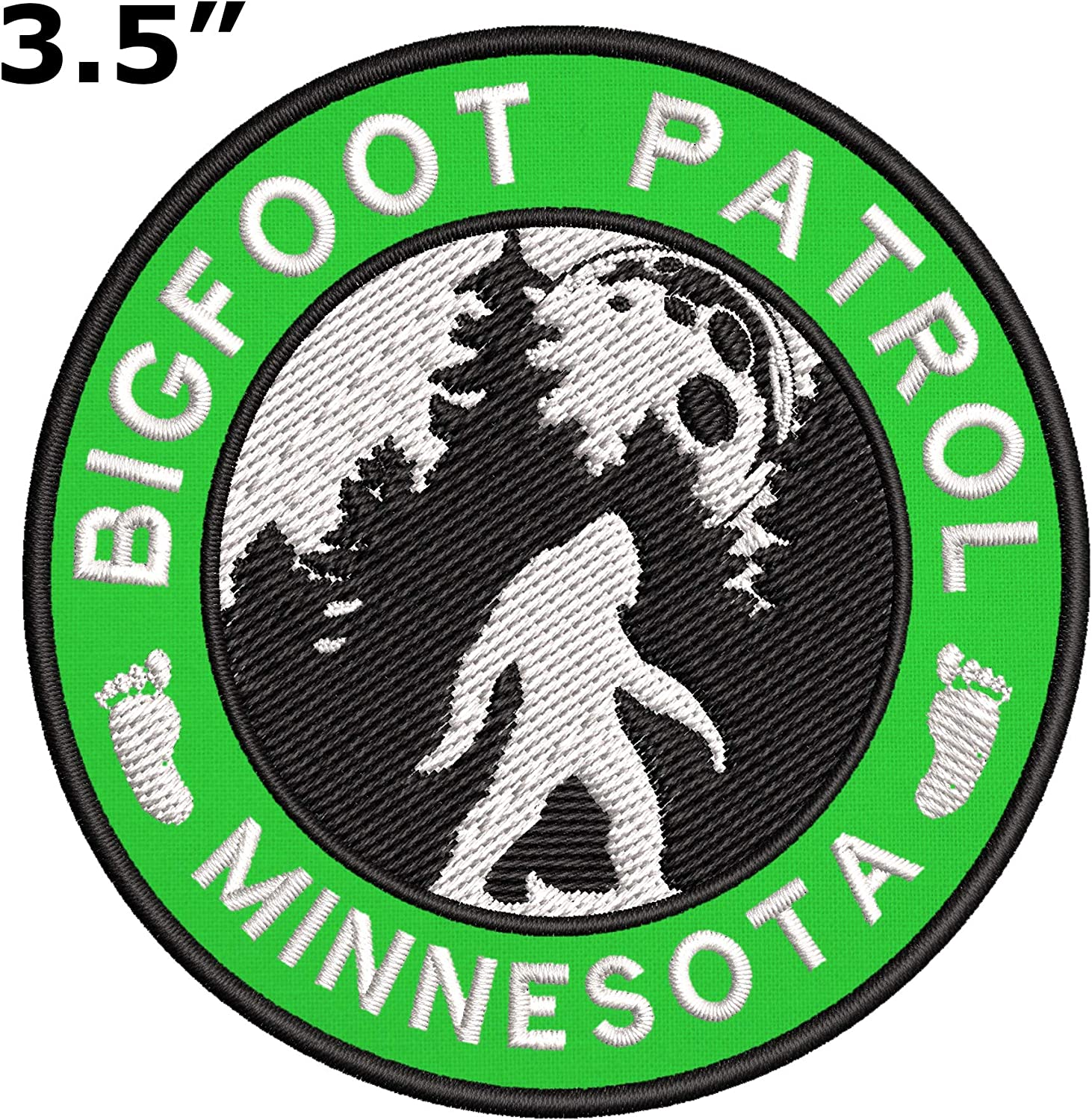 Sew-on Souvenir Travel Bigfoot 2 Pcs Embroidered Patch Iron