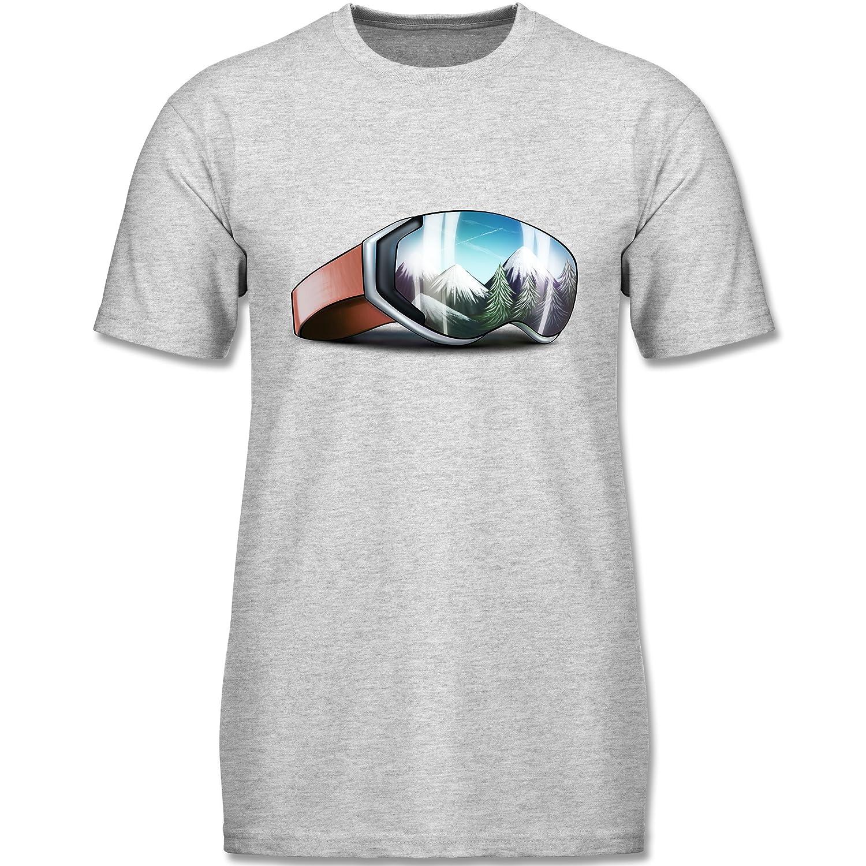 Wintersport - Skibrille - kurzärmeliges Rundhalsausschnitt T-Shirt für Herren, Valueweight T