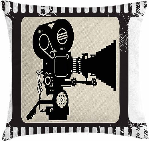 Cine manta almohada Funda de cojín por Ambesonne, película marco ...