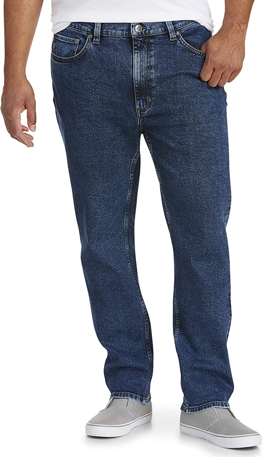 Amazon Essentials Men's Big & Tall Tapered Stretch Jean Fit by DXL