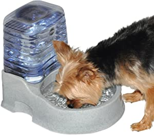 K&H PET PRODUCTS CleanFlow Water Filter with Reservoir - Filtered Pet Water Bowl