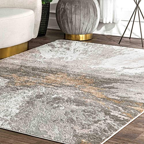 nuLOOM Cyn Abstract Area Rug, 5 x 8 , Silver