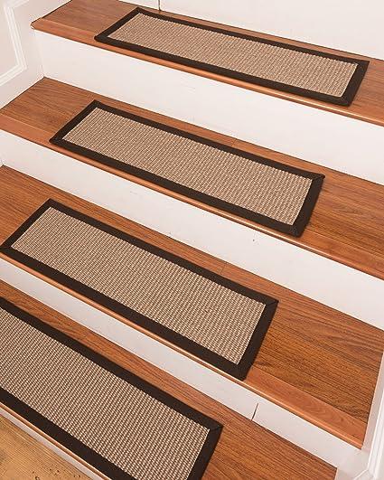 Bon NaturalAreaRugs Lindley Sisal Carpet Stair Treads   Set Of 13 9u0026quot ...